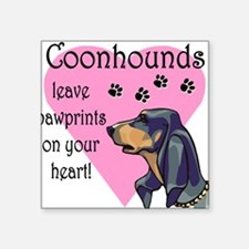 """coonhounds pawprints dark.png Square Sticker 3"""" x"""