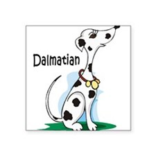 dalmatian cartoon sandstone.png Square Sticker 3""
