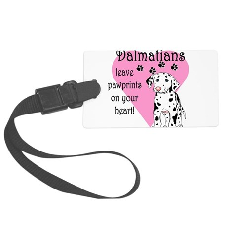 dalmatians pawprints.png Large Luggage Tag
