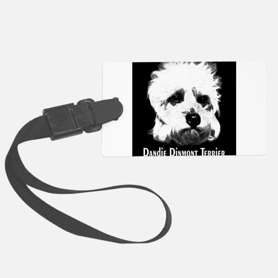 dandie dinmont2 dry brush breed name.png Luggage Tag