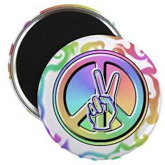 Peace Sign - Tie Dye Magnet