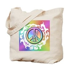 Peace Sign - Tie Dye Tote Bag