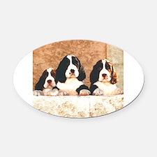 springer pups2 sq.png Oval Car Magnet