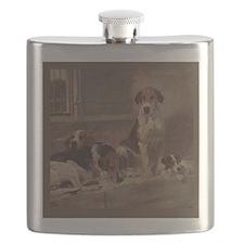 Cute American foxhound Flask