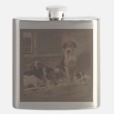 Unique English foxhound Flask