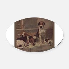 Cute American foxhound Oval Car Magnet