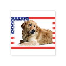 "Patriotic-2.jpg Square Sticker 3"" x 3"""
