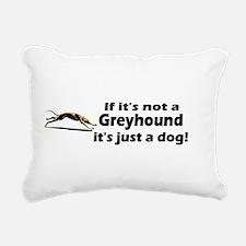 greyhound dog bumper.png Rectangular Canvas Pillow