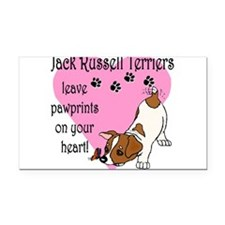 jack russell paw prints.png Rectangle Car Magnet
