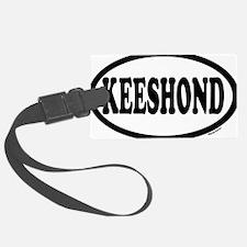 KEESHOND euro oval SHIRT.png Luggage Tag