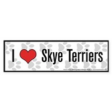 I (heart) Skye Terriers Bumper Bumper Sticker