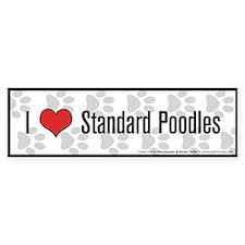 I (heart) Standard Poodles Bumper Bumper Stickers