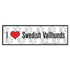 I (heart) Swedish Vallhunds Bumper Bumper Sticker