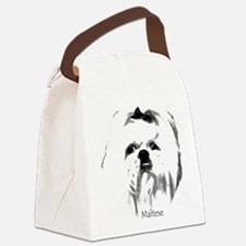 1 maltese head no back.png Canvas Lunch Bag