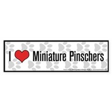 I (heart) Miniature Pinschers Bumper Bumper Sticker