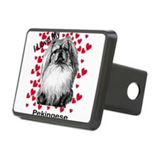 Peke I love my2.png Hitch Cover
