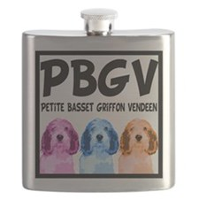 PBGV Pop Art Flask