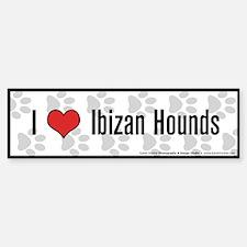 I (heart) Ibizan Hounds Bumper Bumper Bumper Sticker