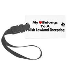 Cute Polish lowland sheepdog Luggage Tag