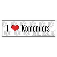 I (heart) Komondors Bumper Bumper Sticker