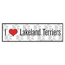 I (heart) Lakeland Terriers Bumper Bumper Sticker