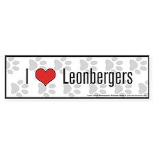 I (heart) Leonbergers Bumper Car Sticker