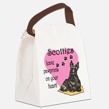 scotties pawprints new.png Canvas Lunch Bag