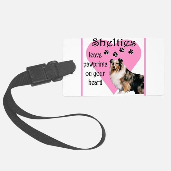 shelties paw prints2.png Luggage Tag