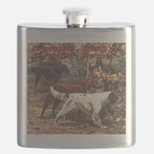 Funny English setter Flask