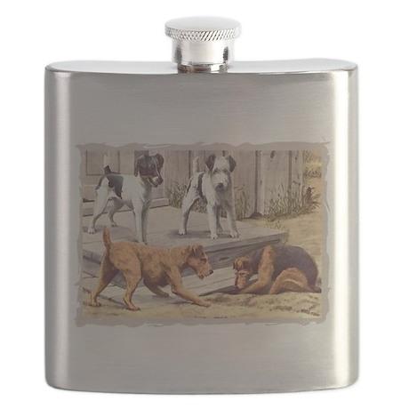 terriers-4 corrected crosshatch border.jpg Flask