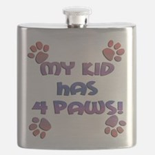 my kids have 4 paws sq sunset.png Flask