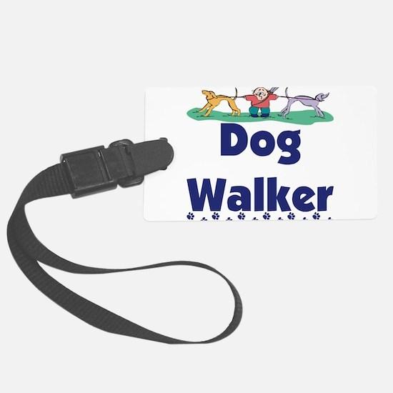 dog walker-3.png Large Luggage Tag