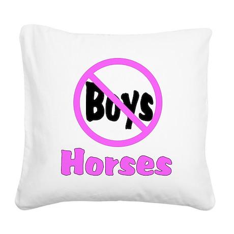 no boys bumper.png Square Canvas Pillow
