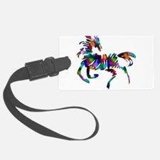 abstrace horse colors-1.png Luggage Tag
