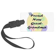 proud new great grandma black.png Luggage Tag