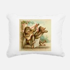music monkeys.png Rectangular Canvas Pillow