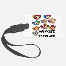monkeys scare me.png Luggage Tag