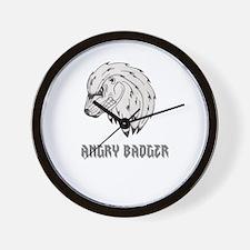 ANGRY BADGER Wall Clock