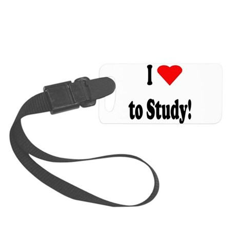 I heart study sq.png Small Luggage Tag