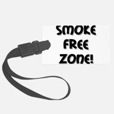 smoke free zone sq grey shadow.png Luggage Tag