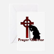Prayer Knight Red Greeting Card