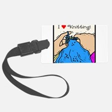 I heart knitting.png Luggage Tag