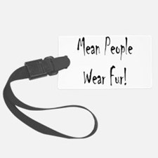 mean people black t4.png Luggage Tag
