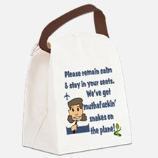 remain calm.png Canvas Lunch Bag