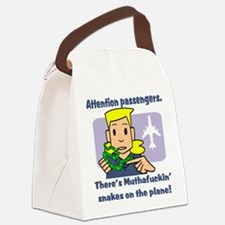 attention passengers.png Canvas Lunch Bag