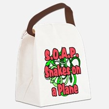 soap with snakes blue.png Canvas Lunch Bag