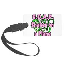 soap with snakes blue.png Luggage Tag