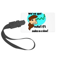 girl head snakes.png Luggage Tag