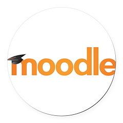 Moodle Logo Round Car Magnet