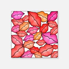 "kissess.png Square Sticker 3"" x 3"""